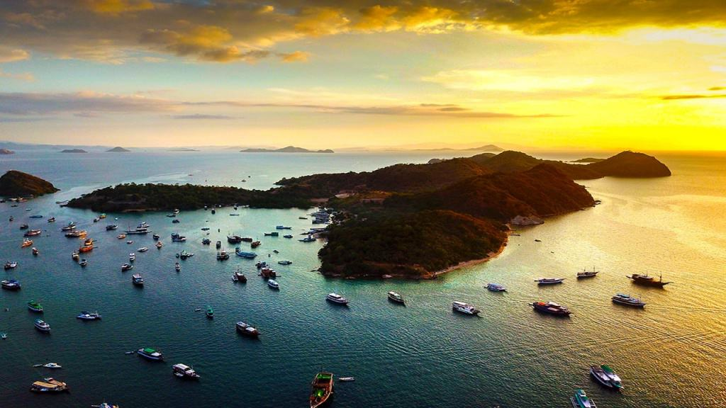 Labuan bajo bay from the sky